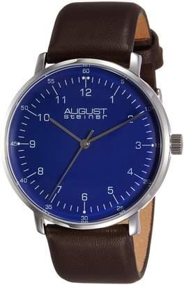 August Steiner Men's AS8090BR Analog Display Swiss Quartz Brown Watch
