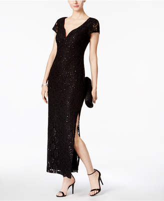 Connected Sequined Lace Column Gown $99 thestylecure.com
