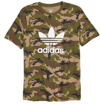 Boy's Adidas Camo Print Trefoil Graphic T-Shirt $26 thestylecure.com