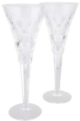 Waterford Pair of Millennium Prosperity Champagne Flutes
