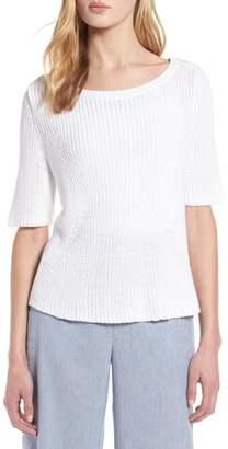 Halogen Shaker Stitch Cotton Sweater