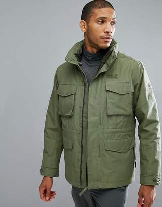 Jack Wolfskin Port Hardy 3 in 1 Jacket in Khaki