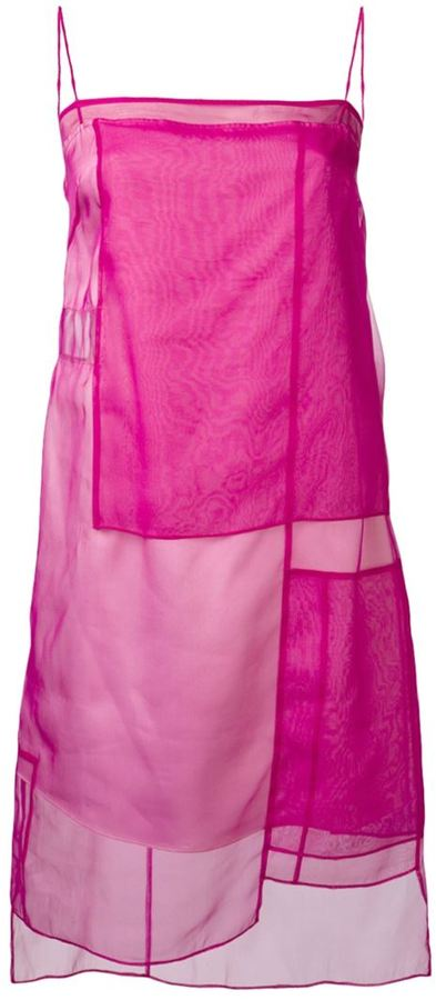 Helmut Lang sheer panel dress