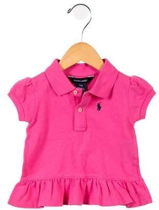 Ralph Lauren Girls' Ruffled Polo Shirt