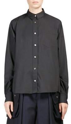 Sacai Poplin Button-Down Shirt
