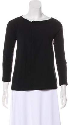 Brunello Cucinelli Long Sleeve Scoop Neck Top