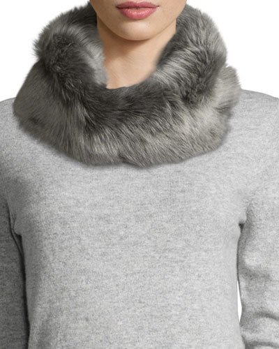 UGG UGG Toscana Fur Snood w/ Knit Lining, Gray