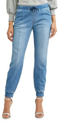 b4748fb20cc7d Sofia Jeans by Sofia Vergara Paula Soft Stretch Knit Denim Jogger Women s  (Medium Indigo Wash