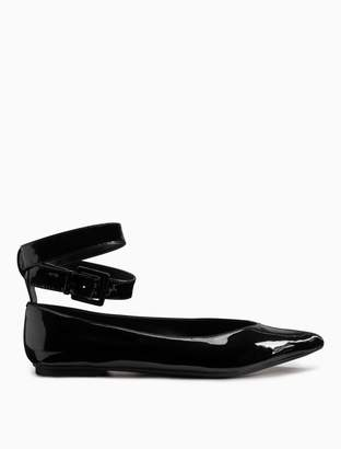 Calvin Klein alanis patent leather flat