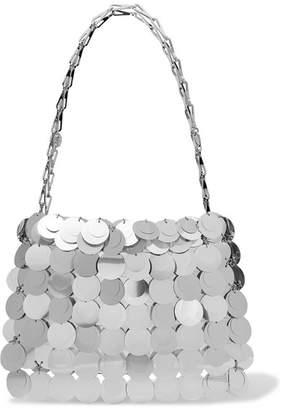 Paco Rabanne Sparkle 1969 Paillette-embellished Satin Shoulder Bag - Silver