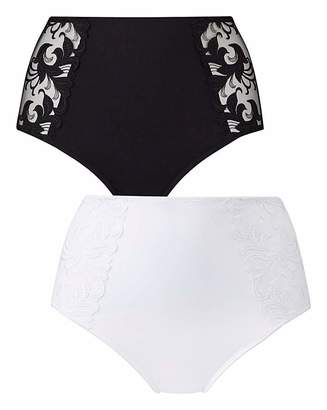 Pretty Secrets 2Pack Flora Black/White Briefs