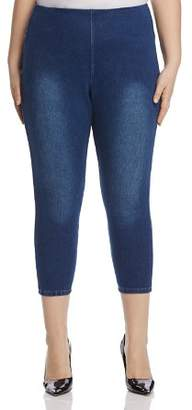 Lysse Plus Pull-On Toothpick Crop Jeans in Indigo