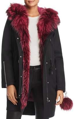 Maximilian Furs Rabbit Fur-Lined Parka with Fox Fur Trim- 100% Exclusive