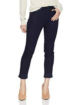 NYDJ Women's Petite Sheri Slim Ankle with Mini FRAY Hem