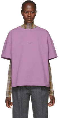 Acne Studios Pink Distressed Logo T-Shirt
