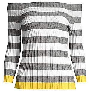 Bailey 44 Women's Off-The-Shoudler Striped Sweater