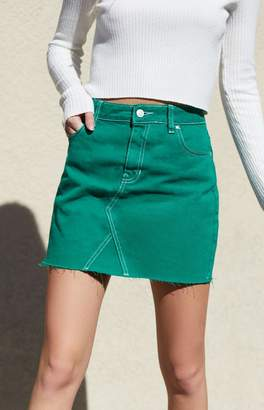 PacSun Green Vintage 5-Pocket Skirt