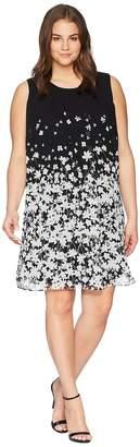 Calvin Klein Plus Plus Size Printed Sleeveless A-Line Dress Women's Dress
