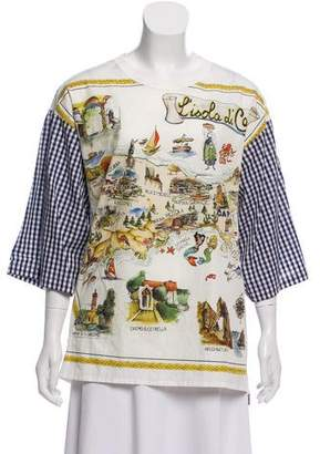 Dolce & Gabbana Printed Gingham Top