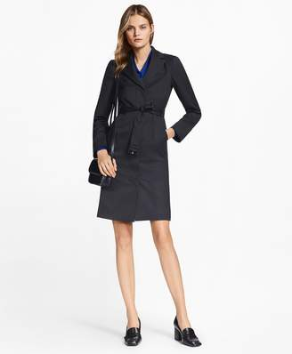 Brooks Brothers Petite Pinstripe Stretch-Wool Jacket Dress