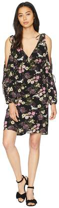 Kensie Black Floral Cranes Dress KS8K8360 Women's Dress