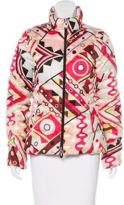 Emilio Pucci Abstract Print Puffer Coat