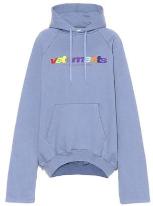Vetements Oversized cotton-blend hoodie