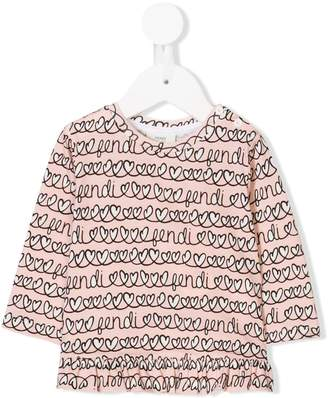 Fendi heart print sweatshirt