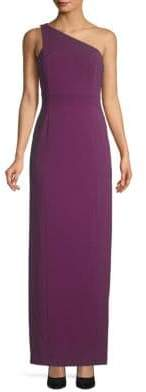 Calvin Klein One-Shoulder Column Gown