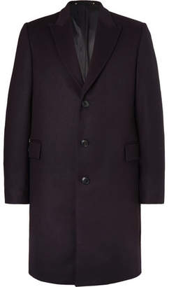Paul Smith Wool And Cashmere-blend Coat - Navy