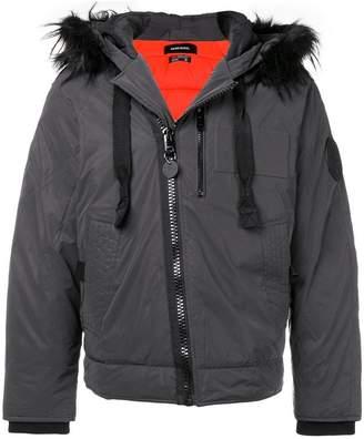 Diesel faux fur hooded jacket