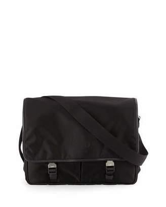 Prada Large Nylon Messenger Bag, Black $1,310 thestylecure.com