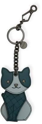 Bottega Veneta Leather Cat Key Chain Charm