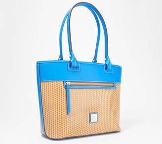 Dooney & Bourke Beacon Leather Woven Zip Top Tote