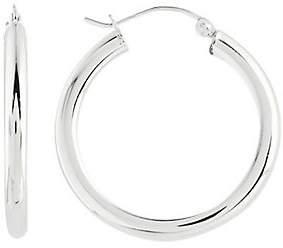 """Prerogatives Sterling 3/4"""" Round Hoop Earrings,"""