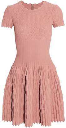 Alaia Pointelle-knit Mini Dress