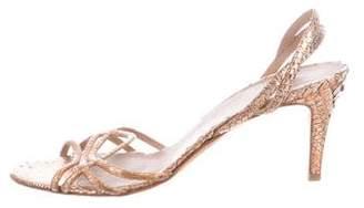 Pierre Hardy Snakeskin Slingback Sandals