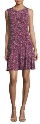 MICHAEL Michael Kors WIldflower Sleeveless Flounce Dress