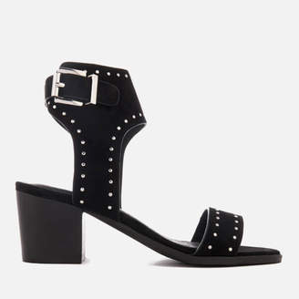Sol Sana Women's Bev Suede Heeled Sandals - Black Stud