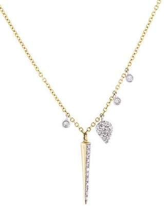 Meira T 14K Diamond Dagger Pendant Necklace