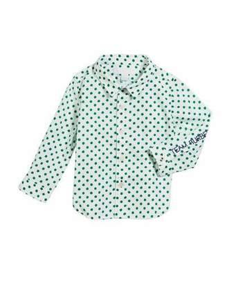 Burberry Jayce Polka-Dot Collared Shirt, Size 12M-2