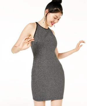 B. Darlin Juniors' Zip-Back Glitter-Knit Dress, Created for Macy's