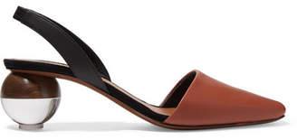 Neous Lancastrela Leather Slingback Pumps - Tan