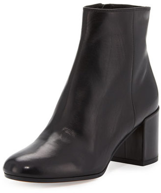 Vince Blakely Leather Ankle Boot, Black $395 thestylecure.com
