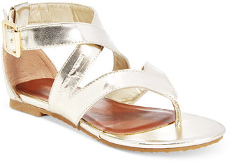 Kenneth Cole Reaction Girls' or Little Girls' Crystal Strappy Sandals $48 thestylecure.com