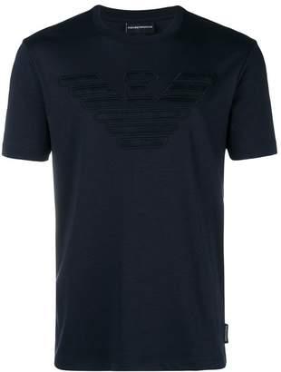 Emporio Armani embroidered logo T-shirt