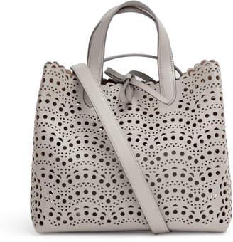 Alaia Light grey laser cut tote bag
