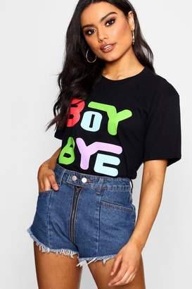 boohoo Boy Bye Multi Colour Printed T-Shirt