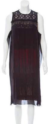 Bottega Veneta Embellished Fringe-Accented Dress