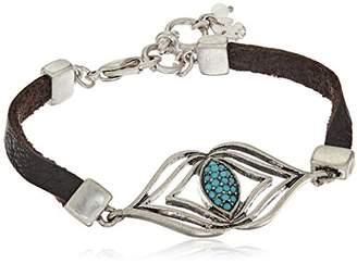 Lucky Brand Leather Feather Bracelet